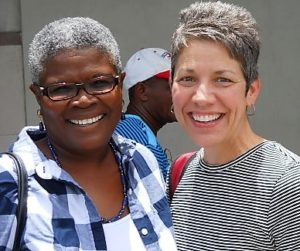 Suzelle and Fiona in Port-au-Prince, May 2016
